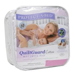 Protect-A-Bed QuiltGuard Cotton Cal King-size Mattress Pad