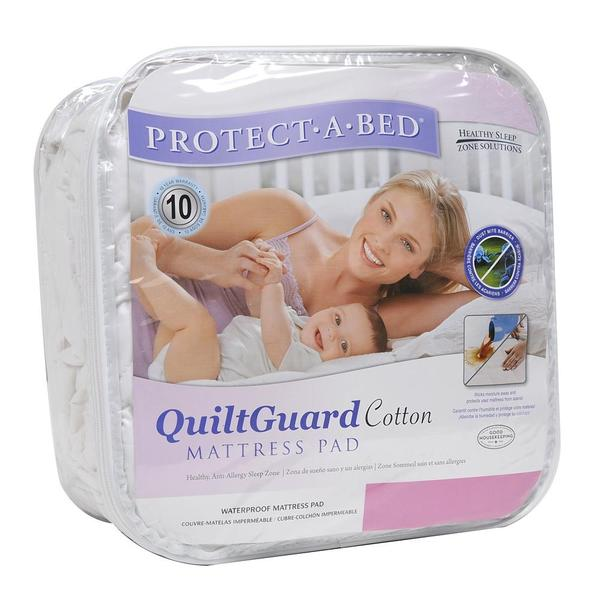 Protect-A-Bed QuiltGuard Cotton California King-size Mattress Pad