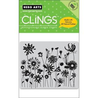 Hero Arts Blooming Meadow Cling Stamps