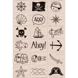 Hero Arts Ink 'n Pirate Stamp