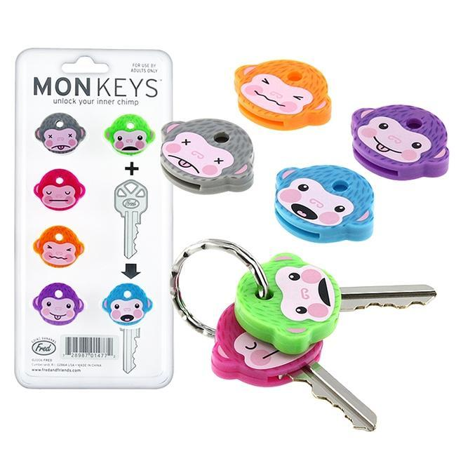 Fred and Friends Monkey Keycaps (Set of 6)