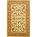 Hand-tufted Karanda Brown Wool Rug (5' x 8')