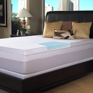 Slumber Solutions Gel Select 3-inch Memory Foam Covered Mattress Topper