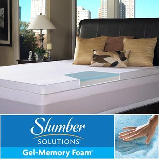 Slumber Solutions Gel Select 3-Inch Twin/Full-Size Memory Foam Mattress Topper with Cotton Cover