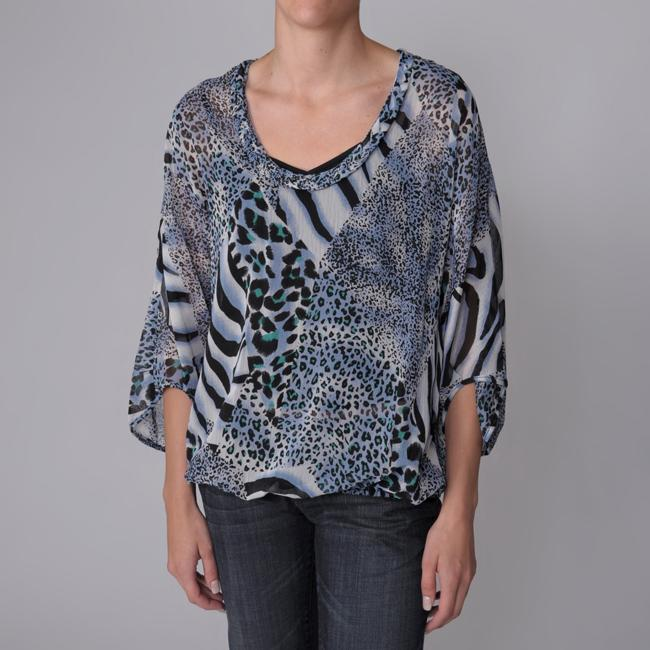 Piano Brand Women's 2-pc Animal Print Sheer Blouse