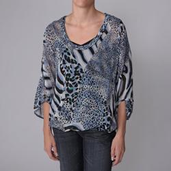 Piano Brand Women's 2-pc Animal Print Sheer Blouse