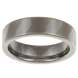 Men's Tungsten Dual Polish Stripe Ring (6 mm)