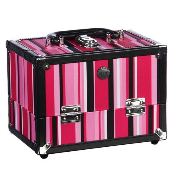 Soho 'Stripe' Beauty Case