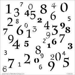 Crafter's Workshop Numerals Collage Template