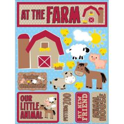 Signature Dimensional At the Farm Stickers