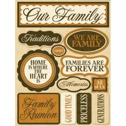 Signature Dimensional Our Family Stickers
