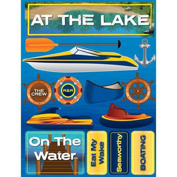 Signature Dimensional At the Lake Stickers