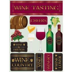 Signature Dimensional Wine Tasting Stickers