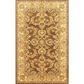 Hand-tufted Brown Orchid Wool Rug (5' x 8')