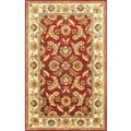 Hand-tufted Red Lantana Wool Rug (5' x 8')