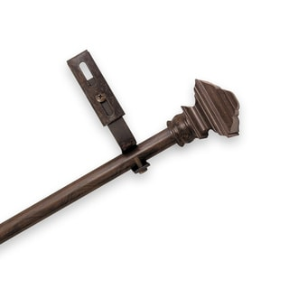 Adjustable Curtain Rod Set with Forey Finial