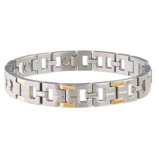 Sabona Executive Stainless Steel Men's Two-tone Magnetic Bracelet