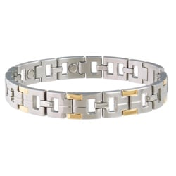 Sabona Executive Stainless Steel Men's Two-tone Magnetic Bracelet