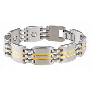 Sabona Executive Stainless Steel Two-Tone Magnetic Bracelet