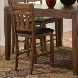 Kai Oak Brown Casual 24-inch Counter Height Stool (Set of 2)