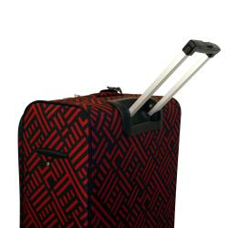 Jenni Chan Black and Red 28-inch Wheeled Upright Luggage