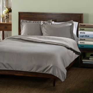 600 Thread Count Wrinkle Resistant Polyester-Cotton 3-piece Duvet Cover Set