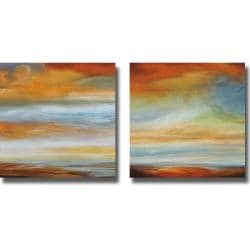 Matt Russel 'Earth and Sky I and II' 2-piece Canvas Art Set