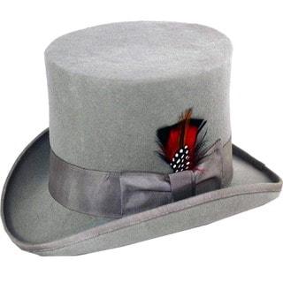 Ferrecci Men's Grey Wool Felt Top Hat