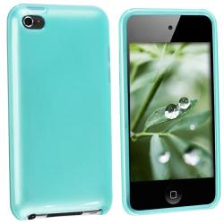 INSTEN Clear Frost Blue TPU iPod Case Cover for iPod Touch 4th Gen