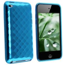 INSTEN Blue Diamond TPU iPod Case Cover for Apple iPod touch 4th Gen