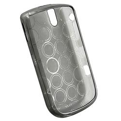 INSTEN Clear Smoke Circle TPU Phone Case Cover for Blackberry Tour 9630