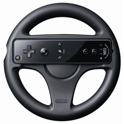 Official Nintendo Wii Wheel - Black