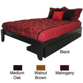 Scandanavia King-size Solid Wood Storage Drawer Platform Bed