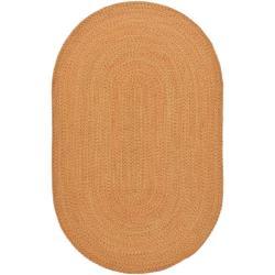 Safavieh Hand-woven Reversible Peach/ Green Braided Rug (5' x 8' Oval)