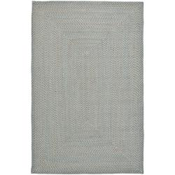 Hand-woven Reversible Grey Braided Rug (5' x 8')