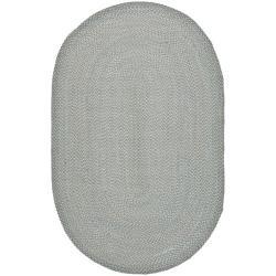 Safavieh Hand-woven Reversible Grey Braided Rug (5' x 8' Oval)