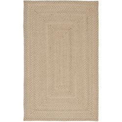 Hand-woven Reversible Beige/ Brown Braided Rug (8' x 10')