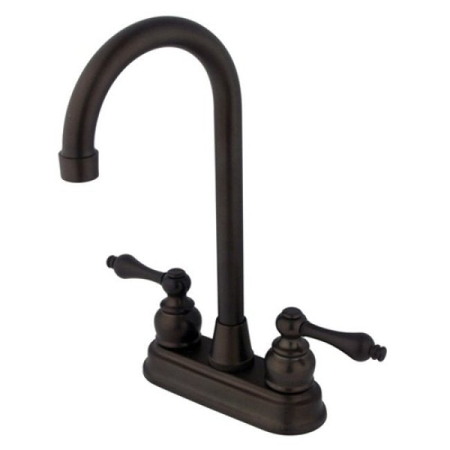 Double-Handle Oil-Rubbed Bronze Bar Faucet