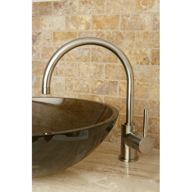 Concord Satin Nickel High-arc Vessel Bathroom Faucet