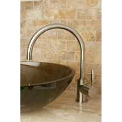 Concord Satin Nickel High-arc Vessel Bathroom Faucet