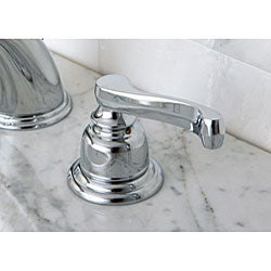 French Handles Chrome Widespread Bathroom Faucet