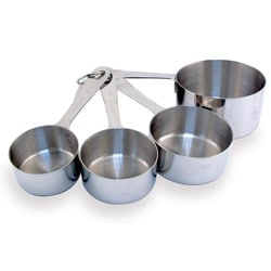 Heavy Duty Stainless Steel 4-piece Liquid Measuring Cup Set