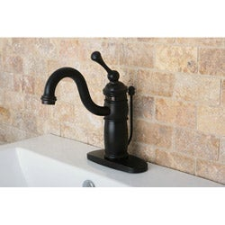 Oil Rubbed Bronze Single-handle Centerset Bathroom Faucet