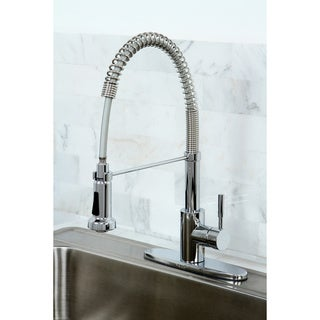 Modern Chrome Spiral Pullout Kitchen Faucet