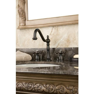 Cross Handle Oil Rubbed Bronze Widespread Bathroom Faucet
