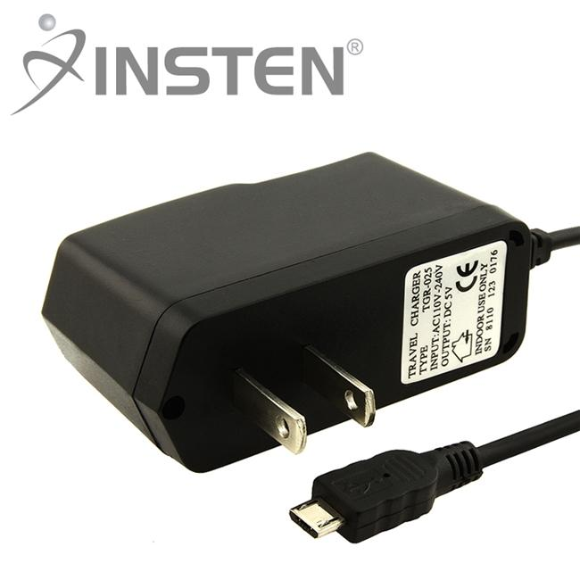 Insten Micro USB Travel Charger for HTC One M9/ Samsung Galaxy S6/ Edge/ Motorola Nexus 6