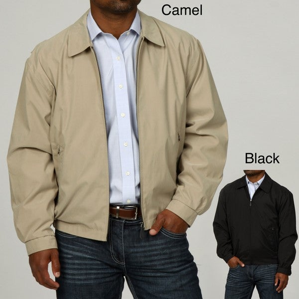 London Fog Men's Zip Front Adjustable Cuff Jacket