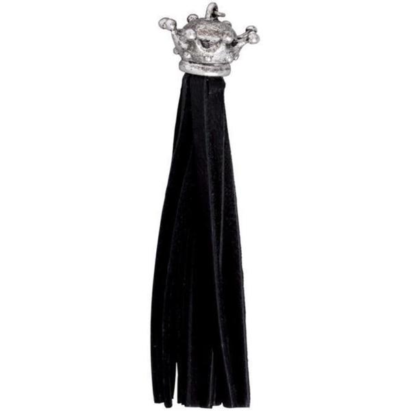 Silver Creek Black Crown Leather Tassel