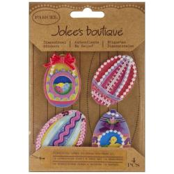 Jolee's Boutique Parcel Ribbon Easter Eggs Dimensional Stickers