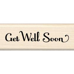 Inkadinkado Mounted Get Well Soon Rubber Stamp